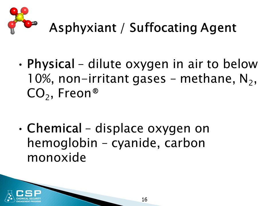 Asphyxiant / Suffocating Agent