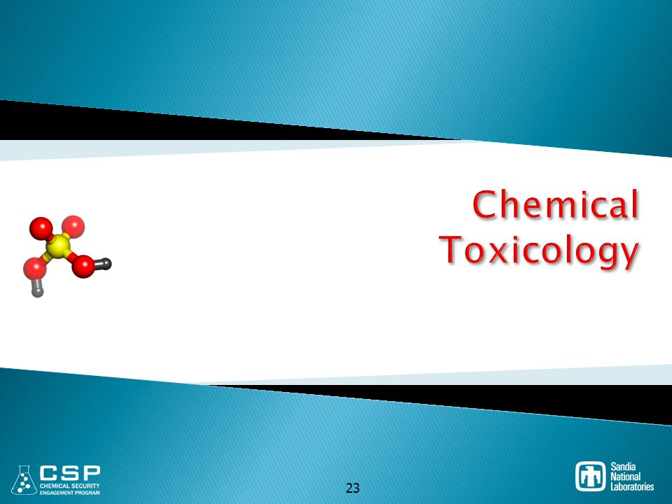 Chemical Toxicology 23