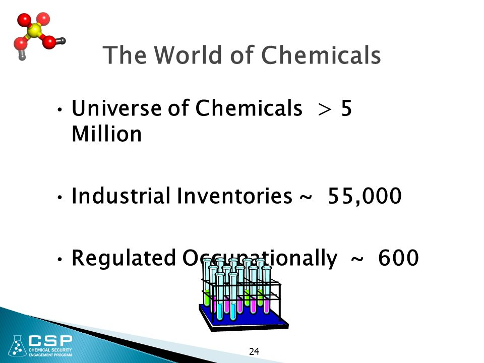 The World of Chemicals Universe of Chemicals > 5 Million