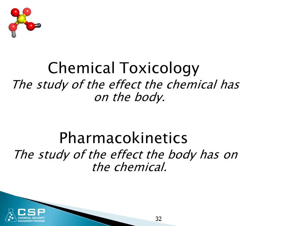 Chemical Toxicology Pharmacokinetics