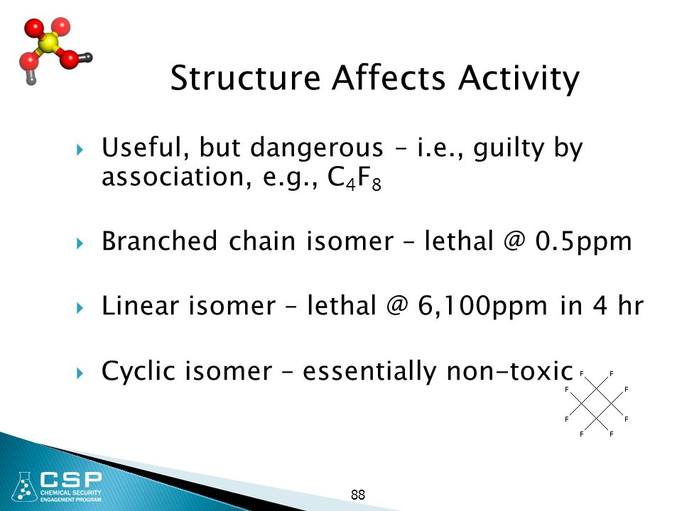 Structure Affects Activity