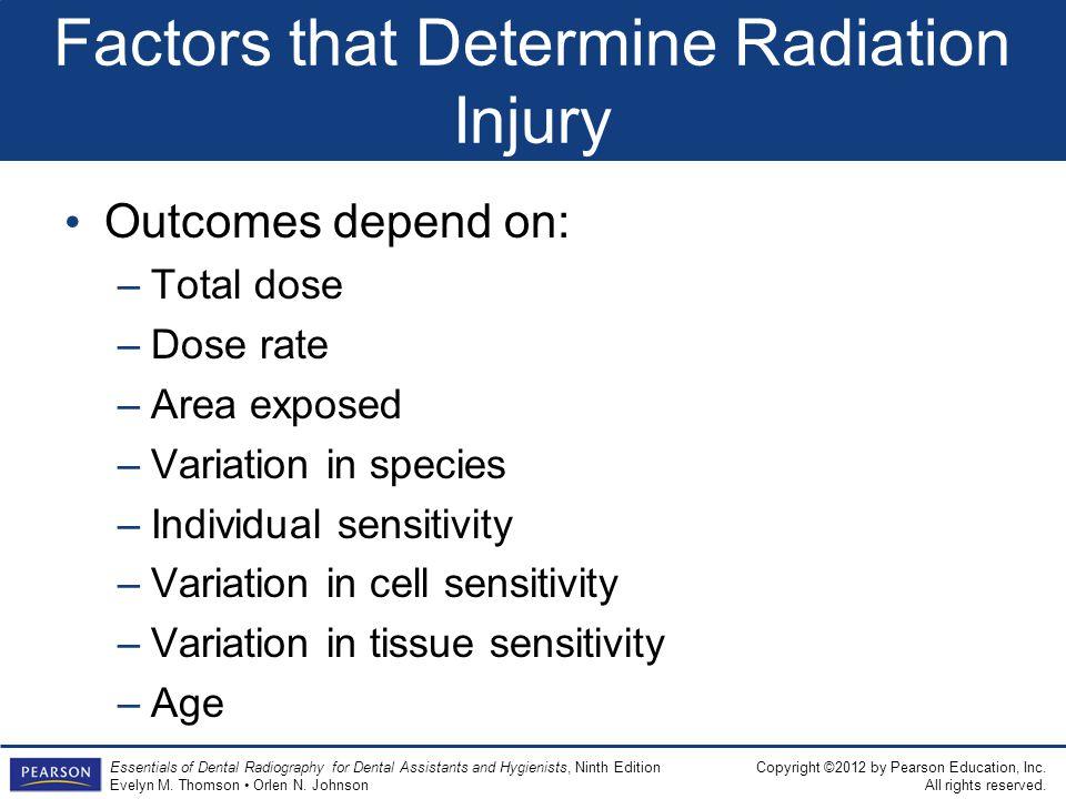 Factors that Determine Radiation Injury