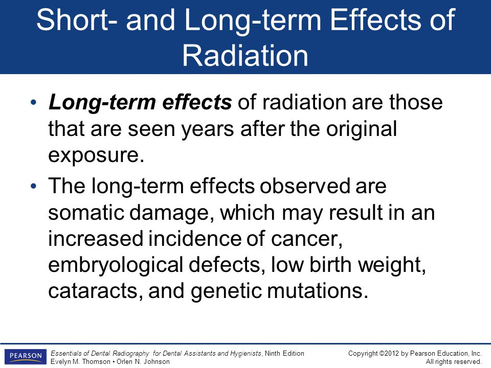 Short- and Long-term Effects of Radiation