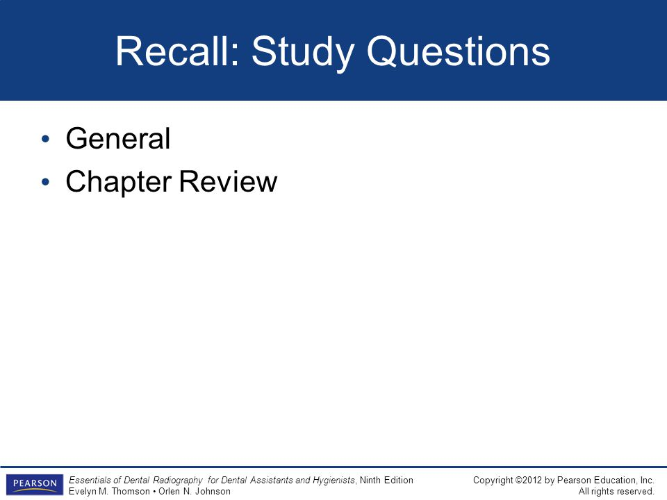 Recall: Study Questions