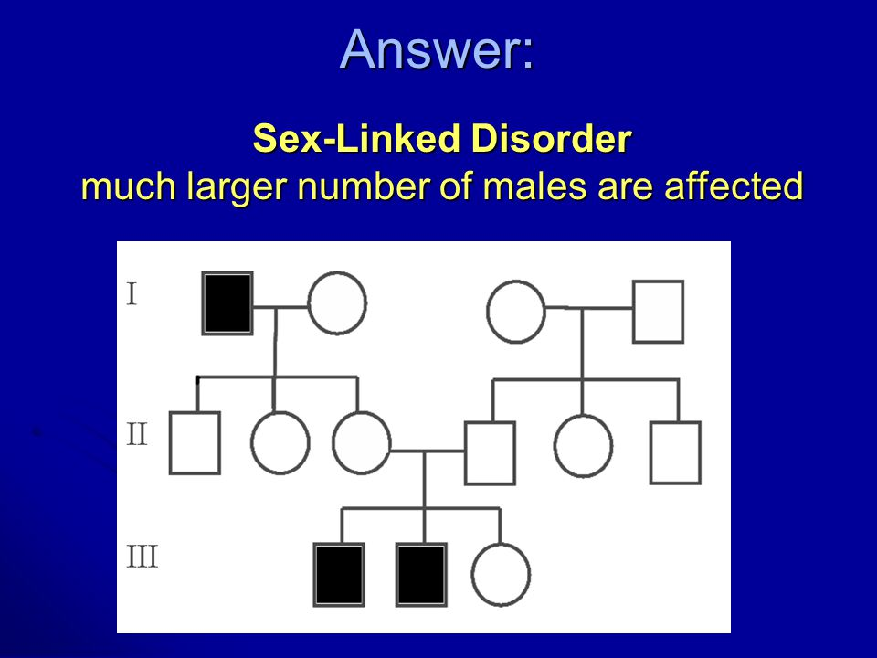 much larger number of males are affected