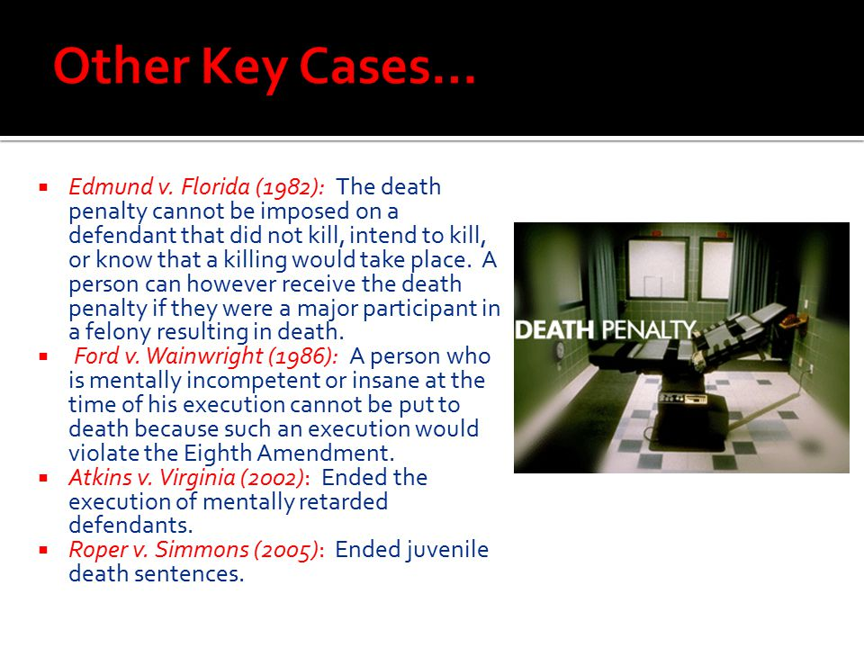 Other Key Cases…