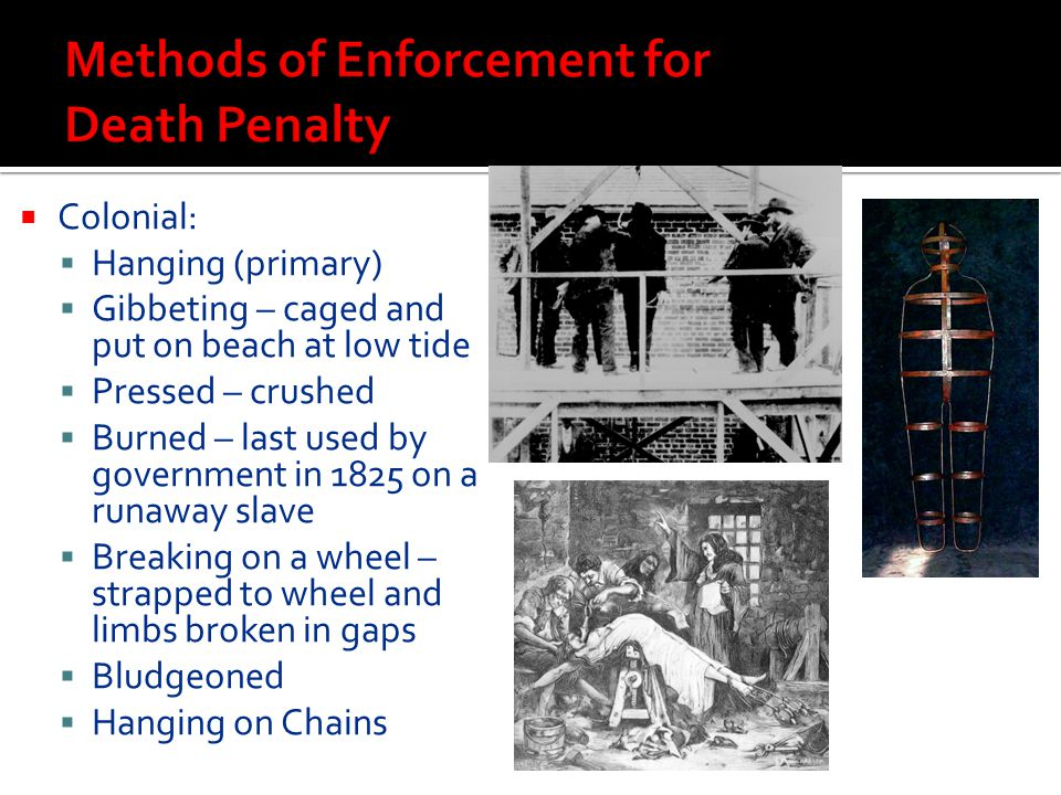 Methods of Enforcement for Death Penalty