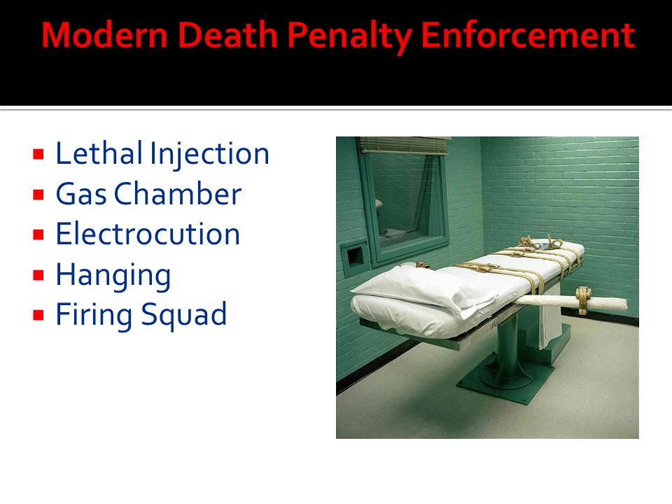 Modern Death Penalty Enforcement