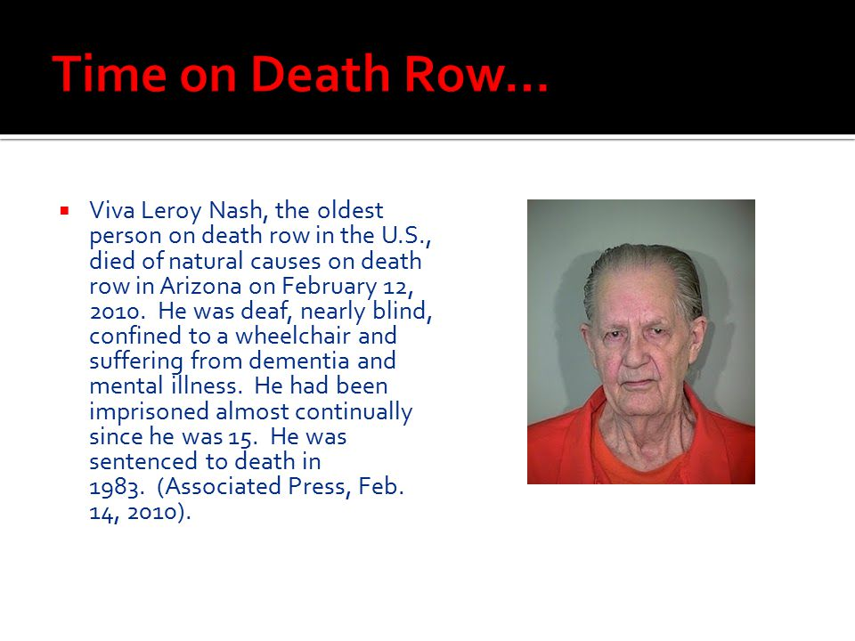 Time on Death Row…