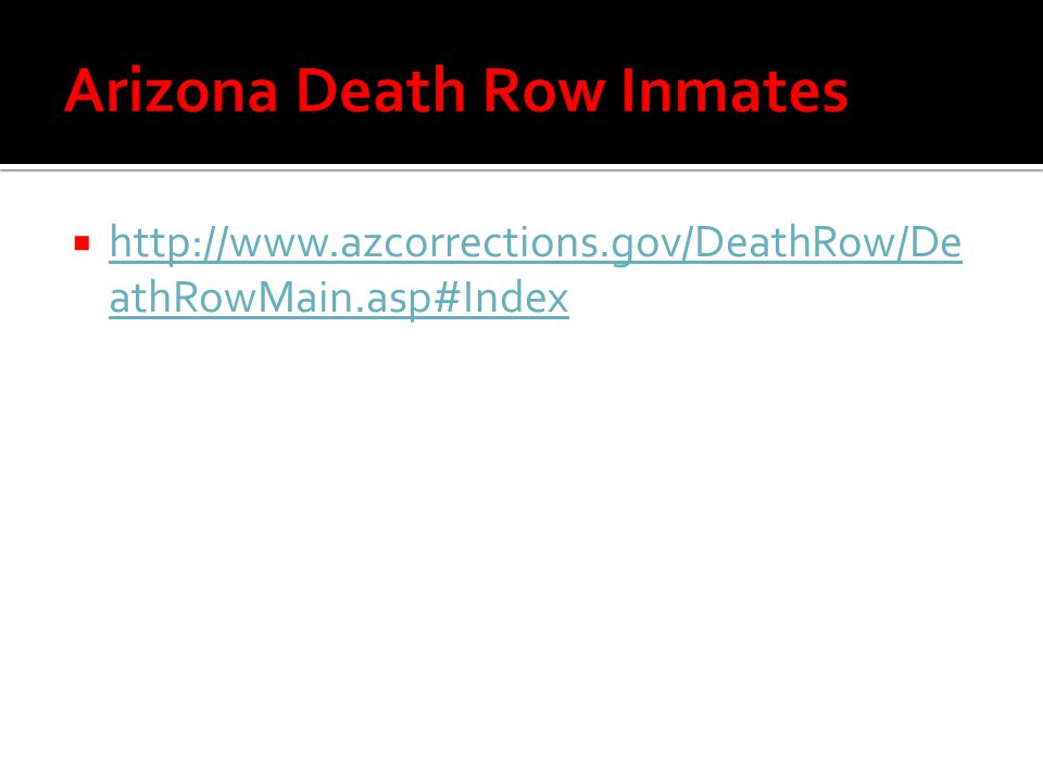 Arizona Death Row Inmates