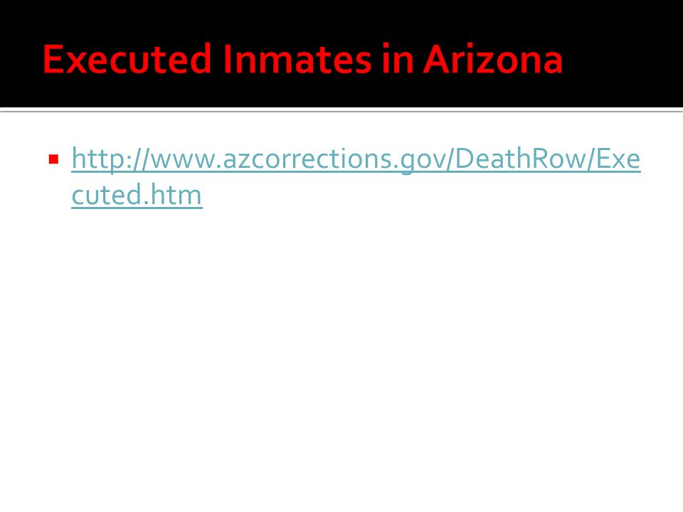 Executed Inmates in Arizona