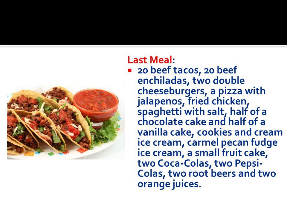 Last Meal: