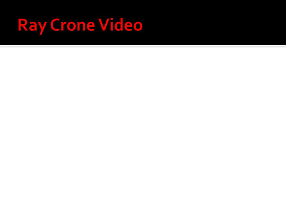 Ray Crone Video