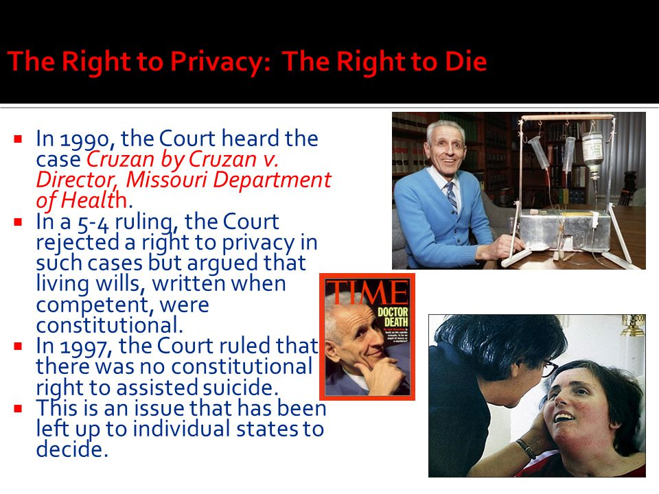 The Right to Privacy: The Right to Die