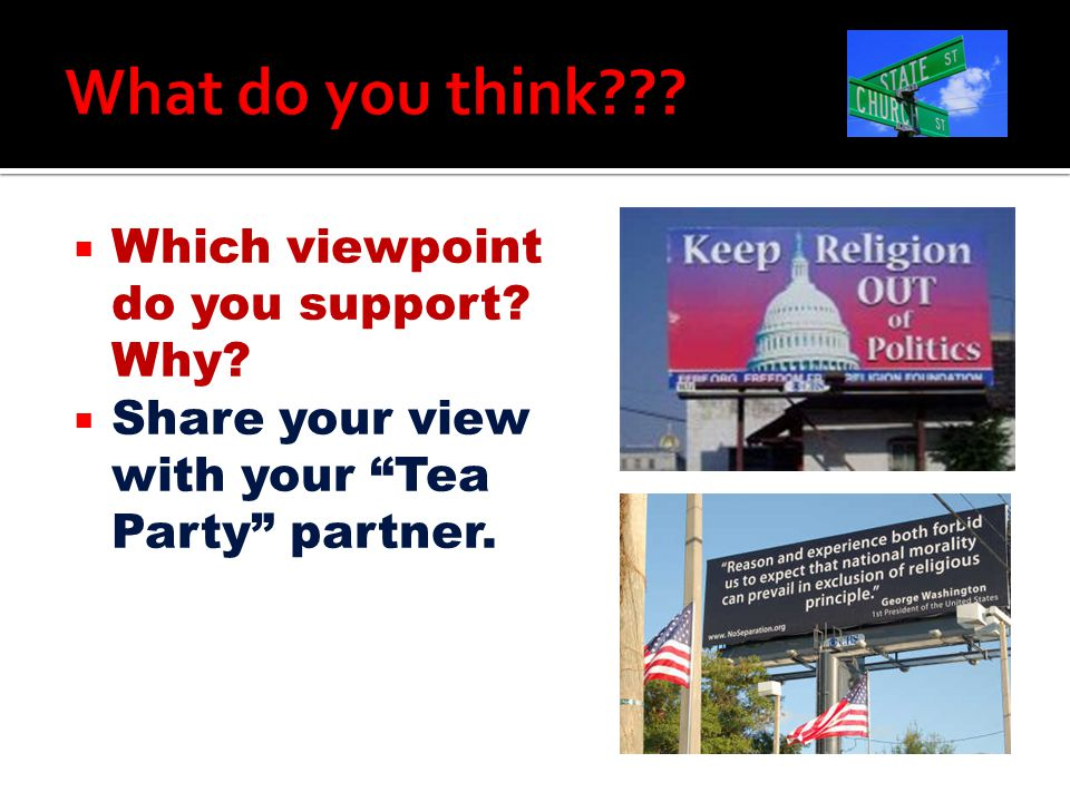 What do you think Which viewpoint do you support Why