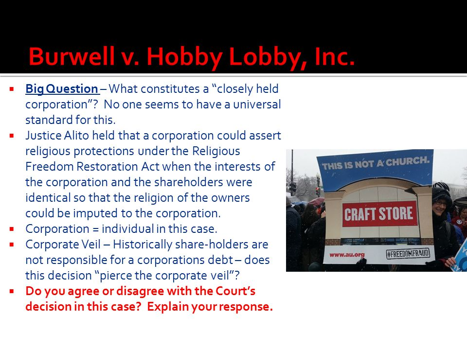 Burwell v. Hobby Lobby, Inc.