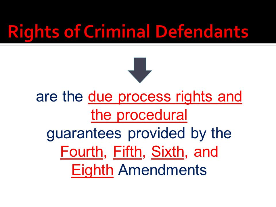 Rights of Criminal Defendants