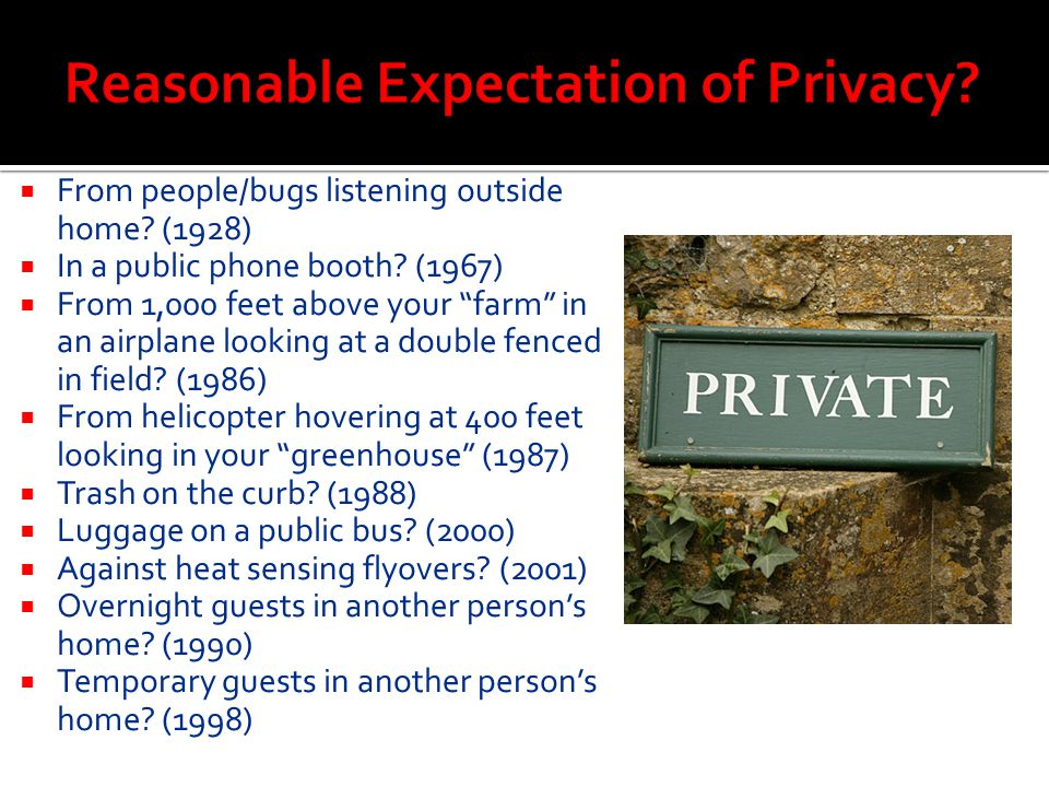 Reasonable Expectation of Privacy