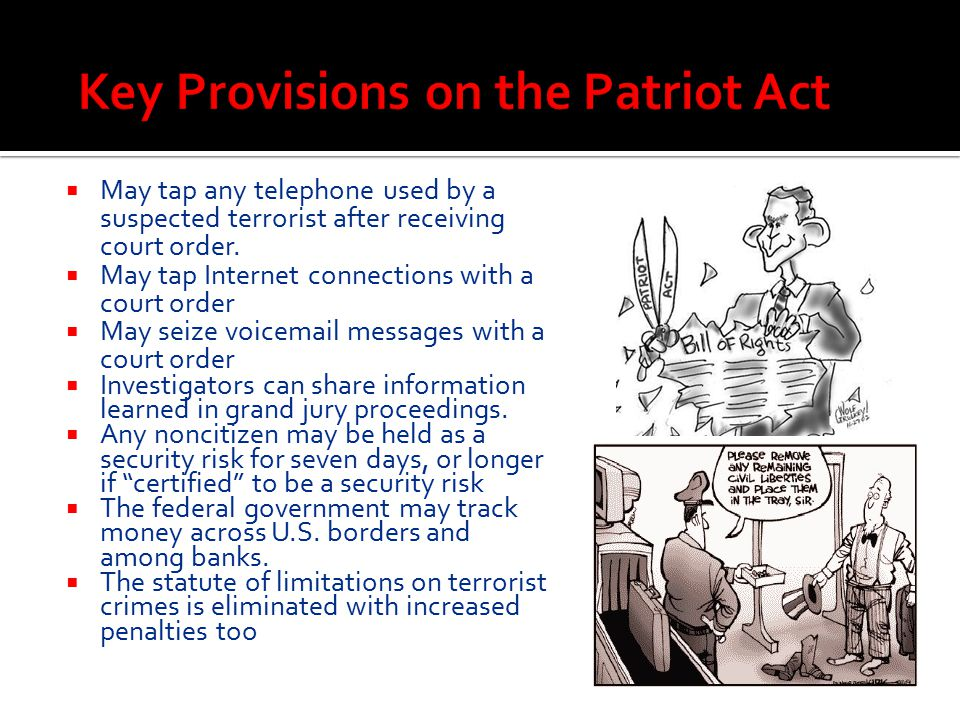 Key Provisions on the Patriot Act