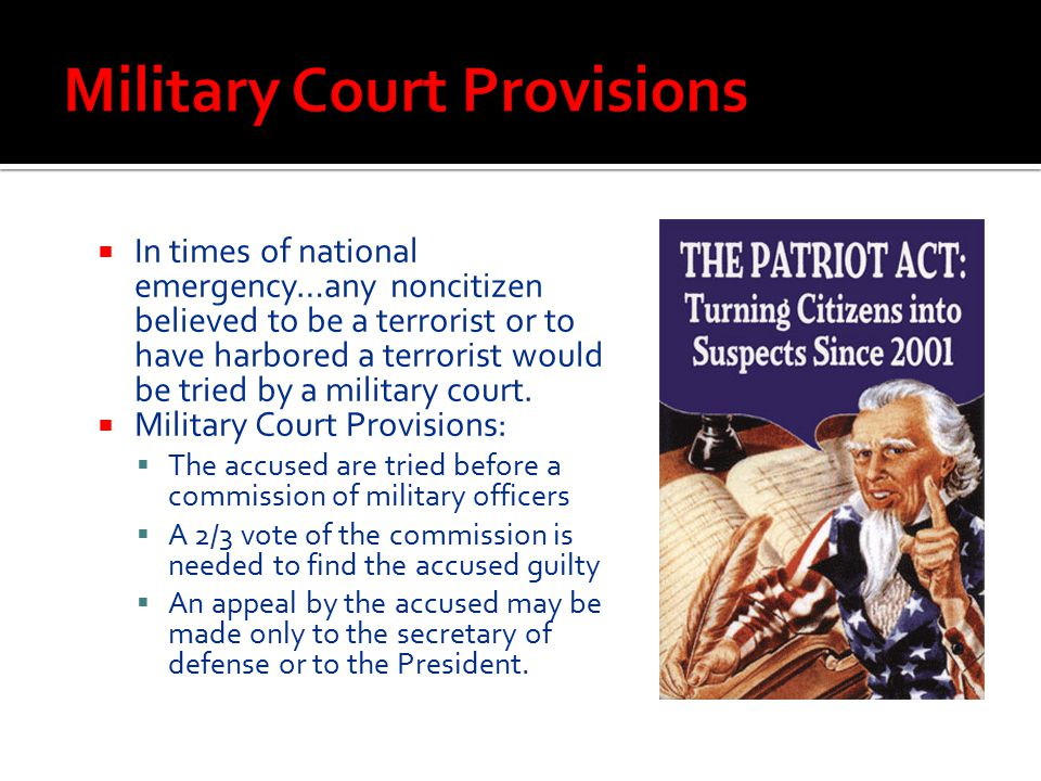 Military Court Provisions