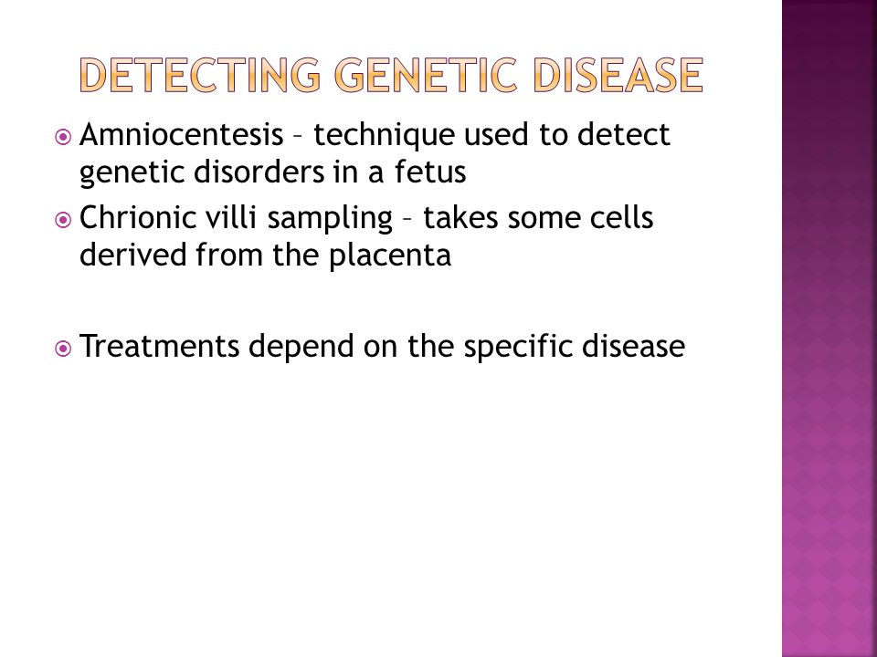 Detecting Genetic disease