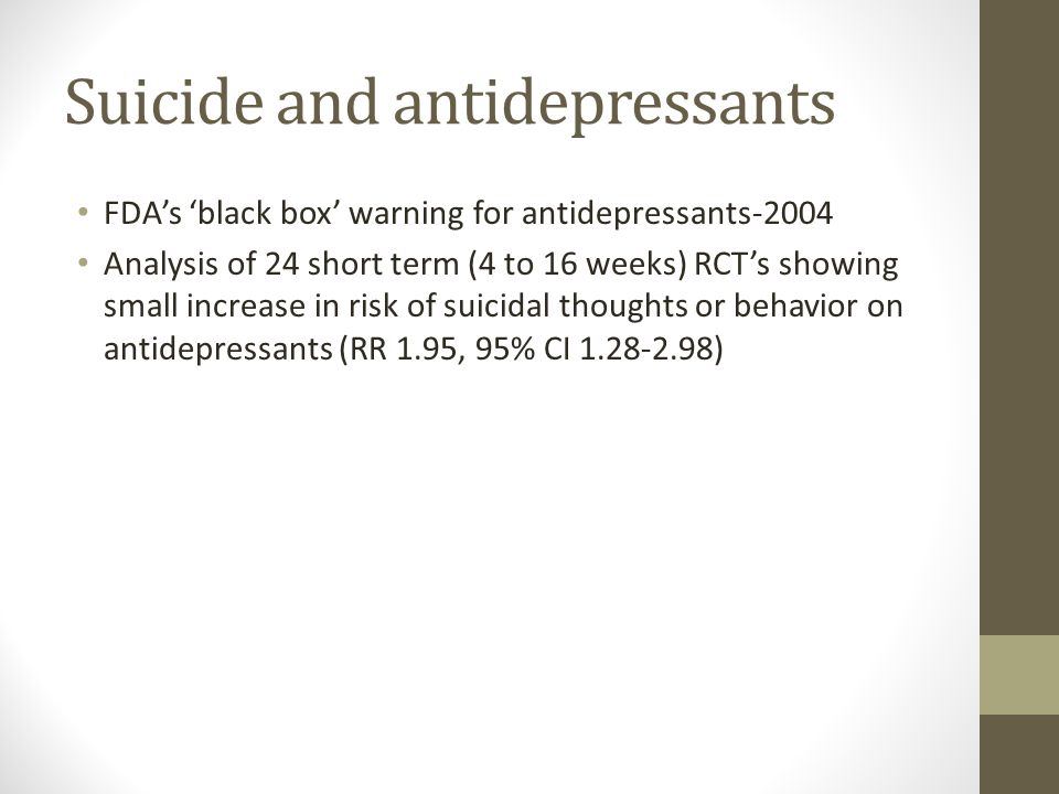 Suicide and antidepressants