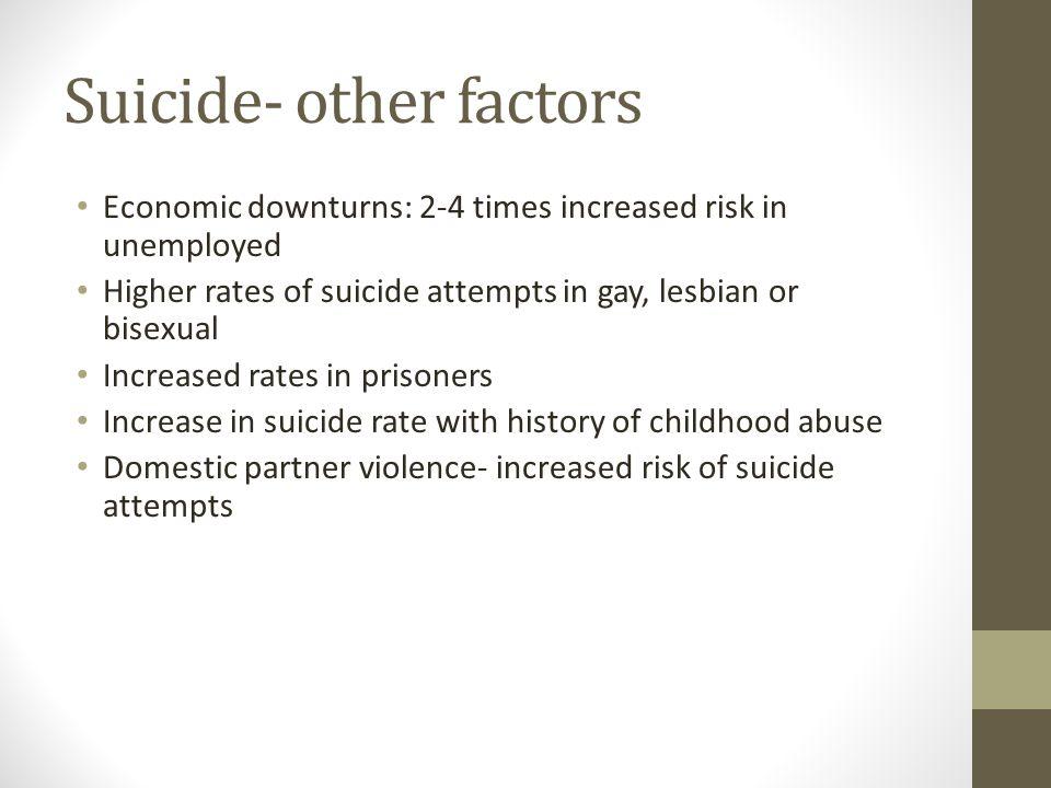 Suicide- other factors