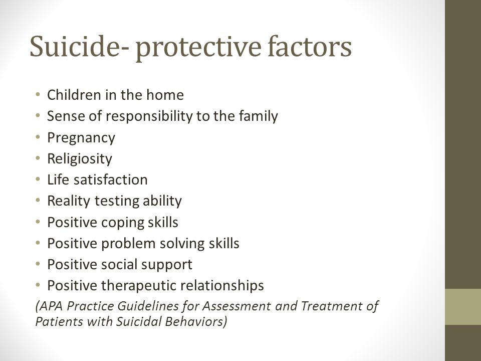 Suicide- protective factors