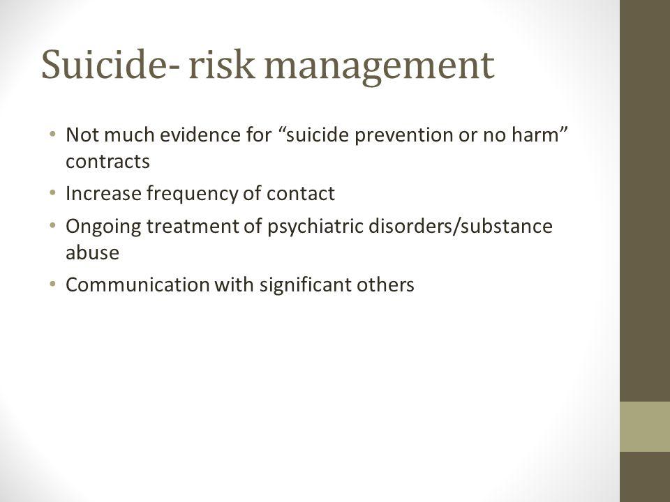Suicide- risk management