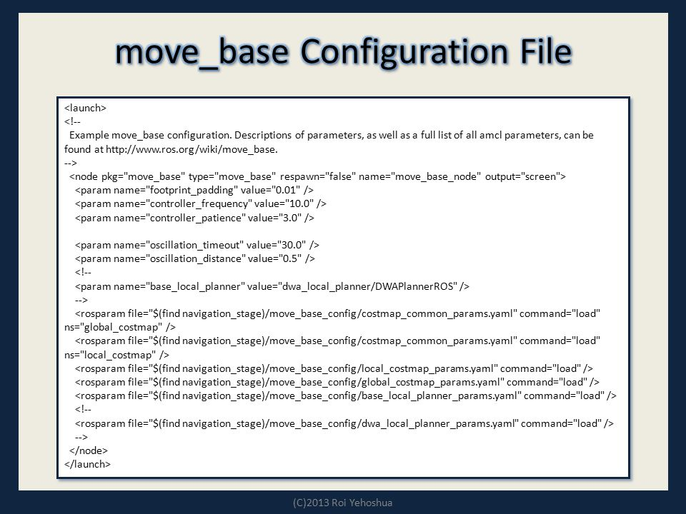 move_base Configuration File
