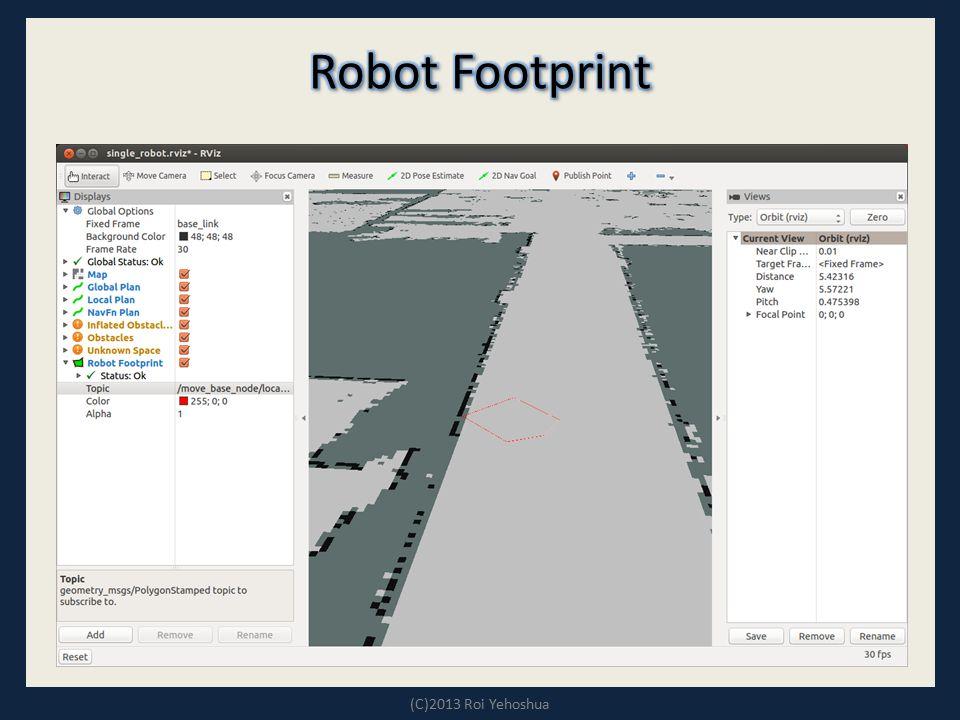 Robot Footprint (C)2013 Roi Yehoshua