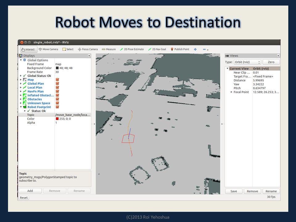 Robot Moves to Destination