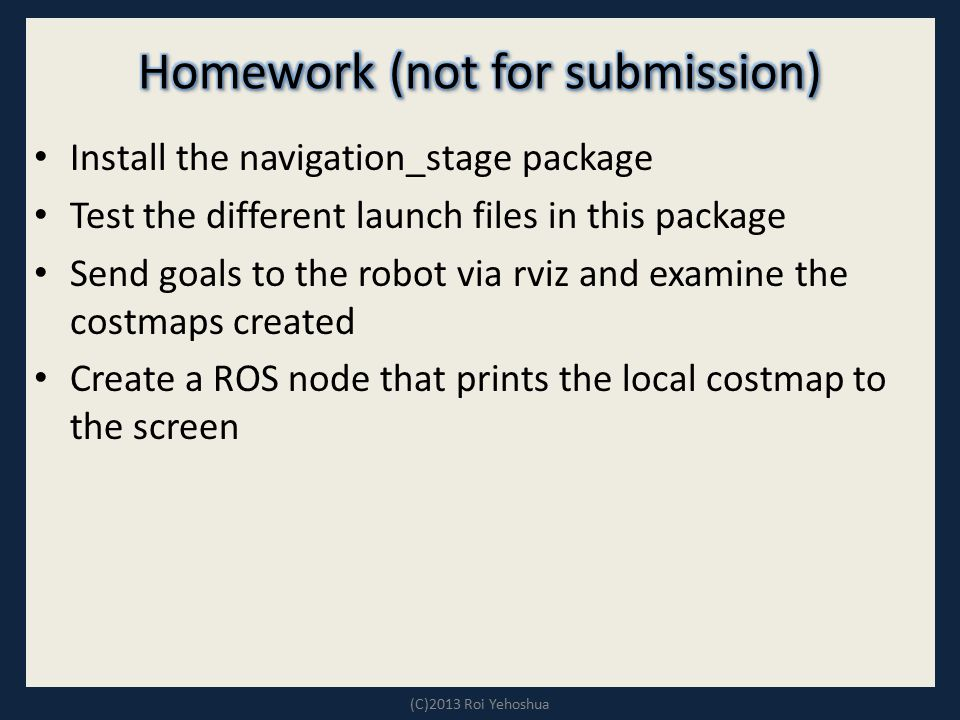 Homework (not for submission)