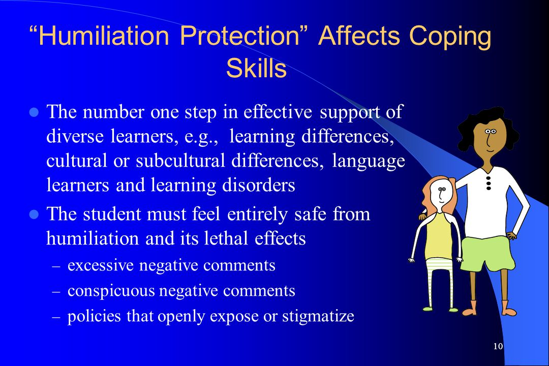 Humiliation Protection Affects Coping Skills