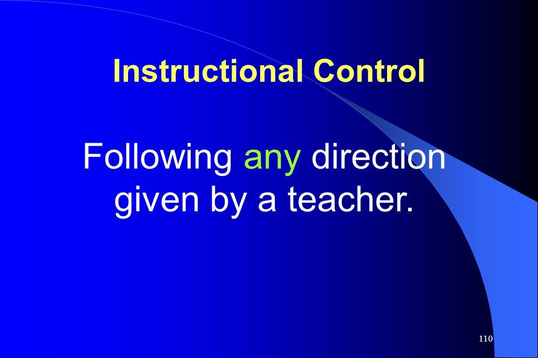 Instructional Control