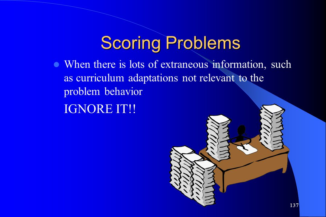 Scoring Problems IGNORE IT!!