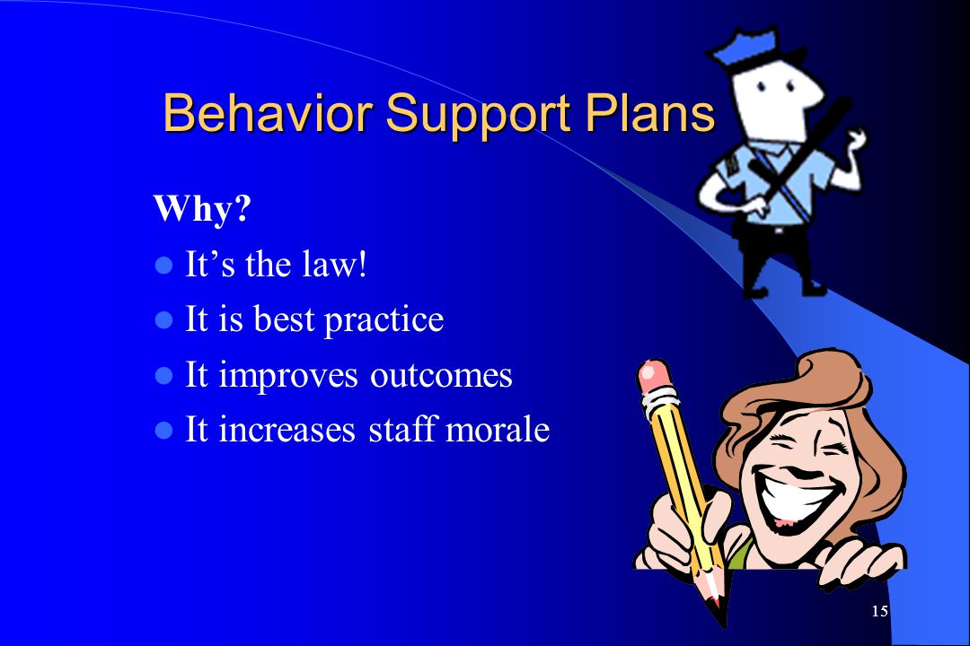 Behavior Support Plans