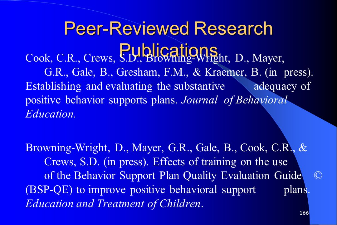Peer-Reviewed Research Publications