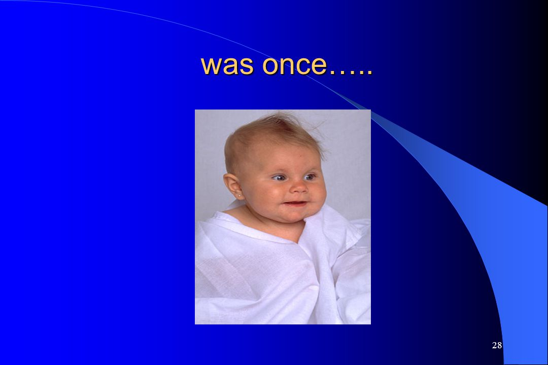 was once….. Have the students bring in baby pictures.