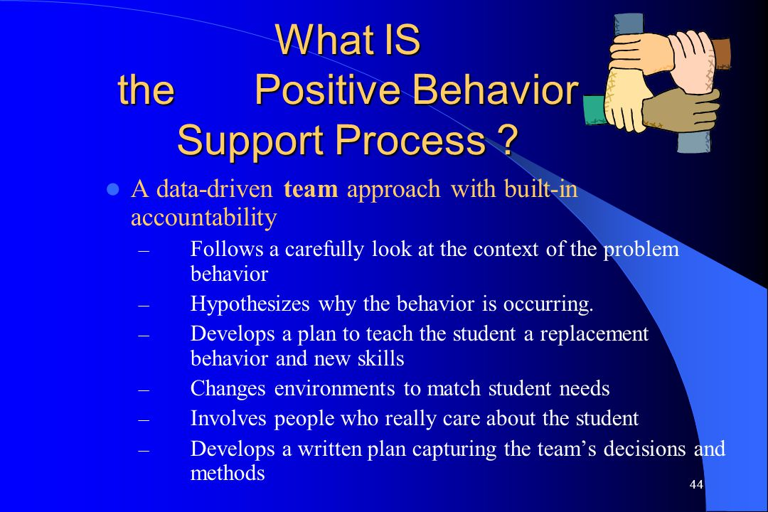 What IS the Positive Behavior Support Process