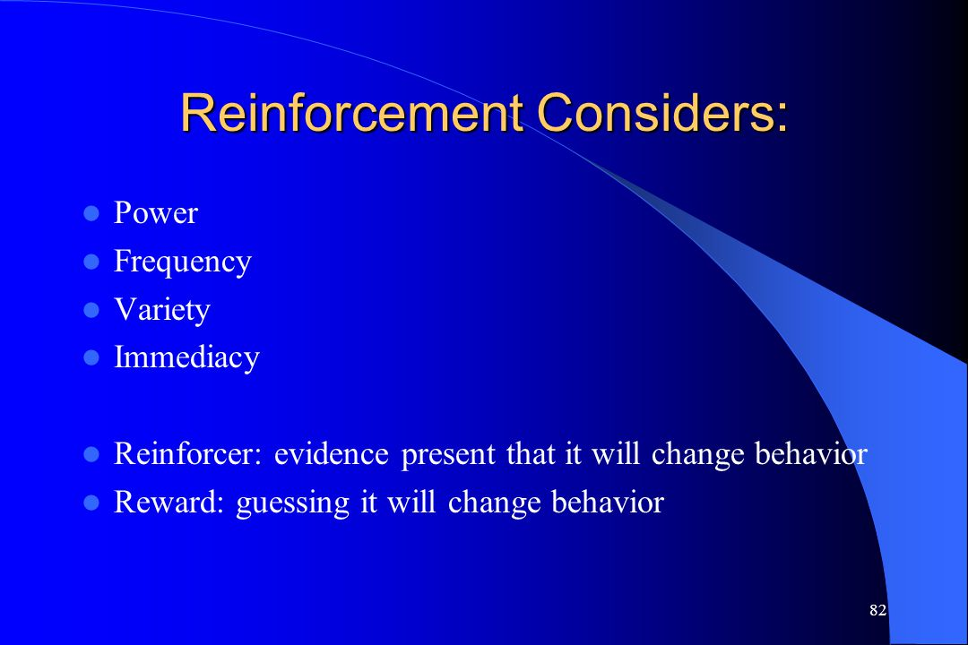 Reinforcement Considers:
