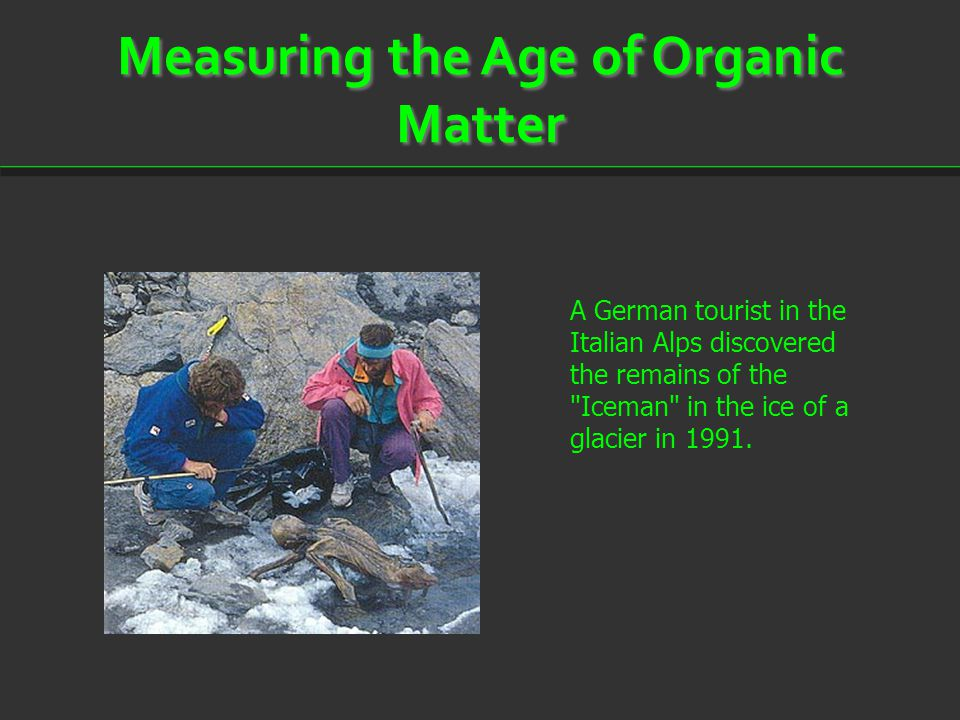 Measuring the Age of Organic Matter
