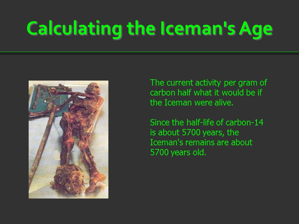 Calculating the Iceman s Age