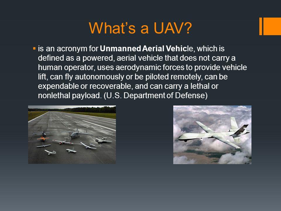 What's a UAV