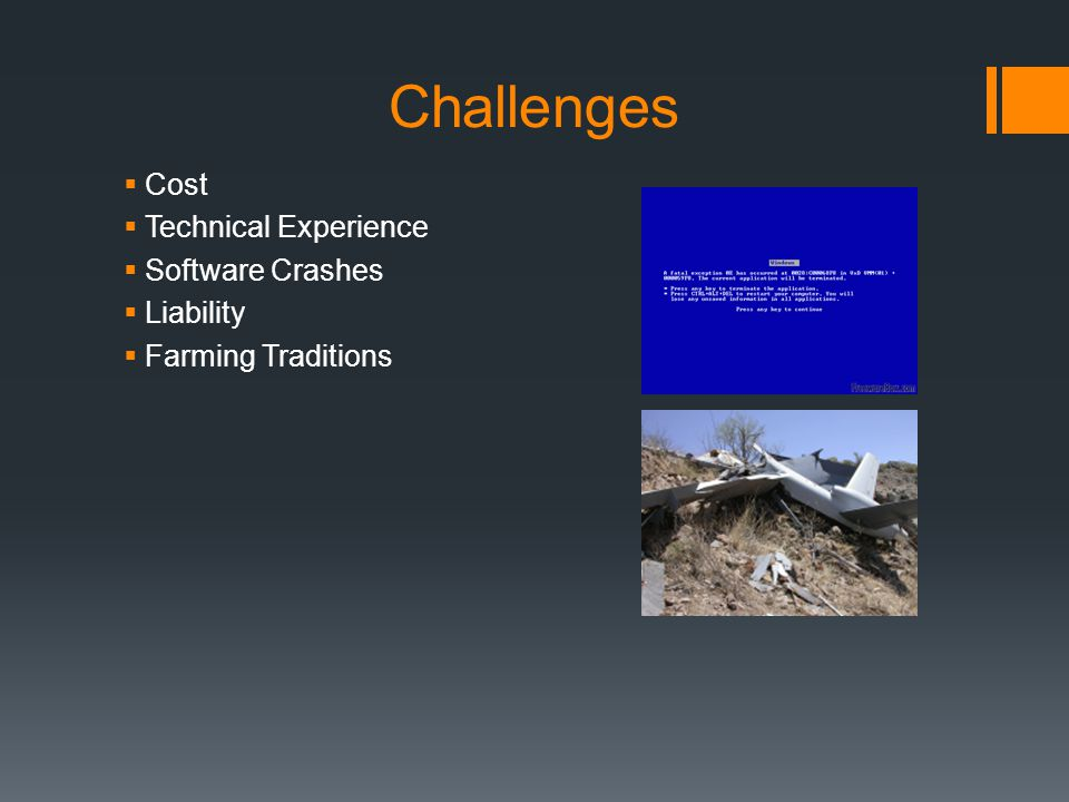 Challenges Cost Technical Experience Software Crashes Liability
