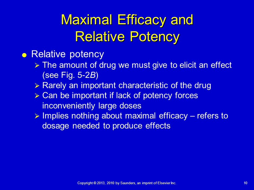 Maximal Efficacy and Relative Potency