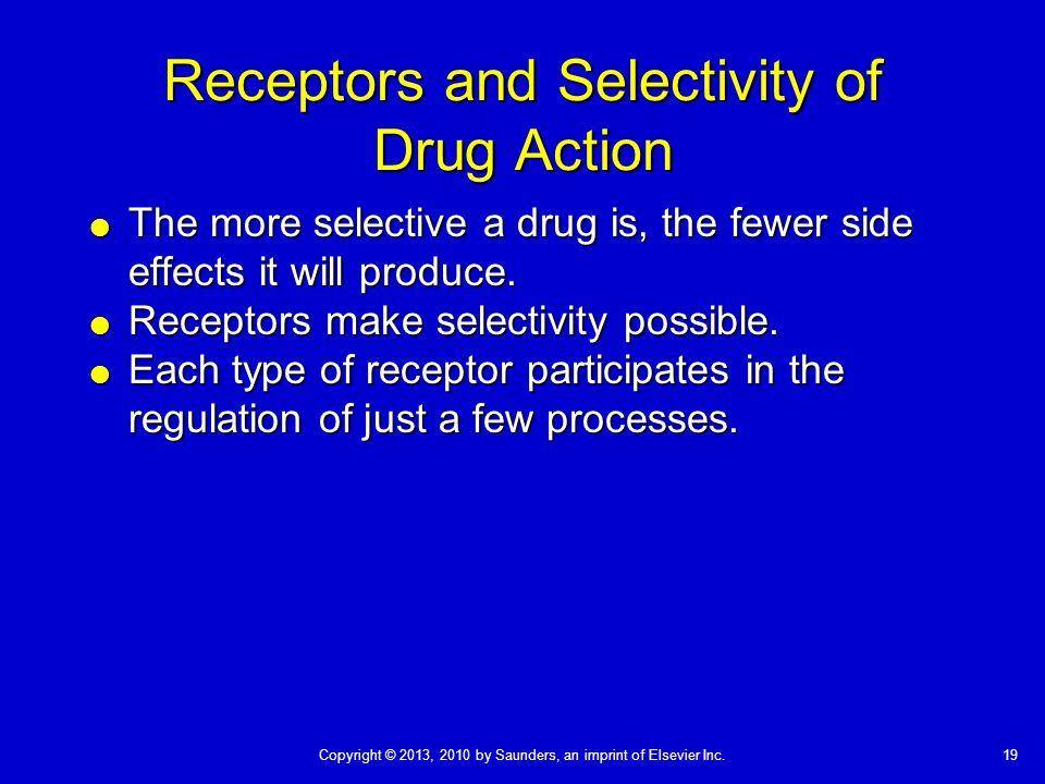 Receptors and Selectivity of Drug Action
