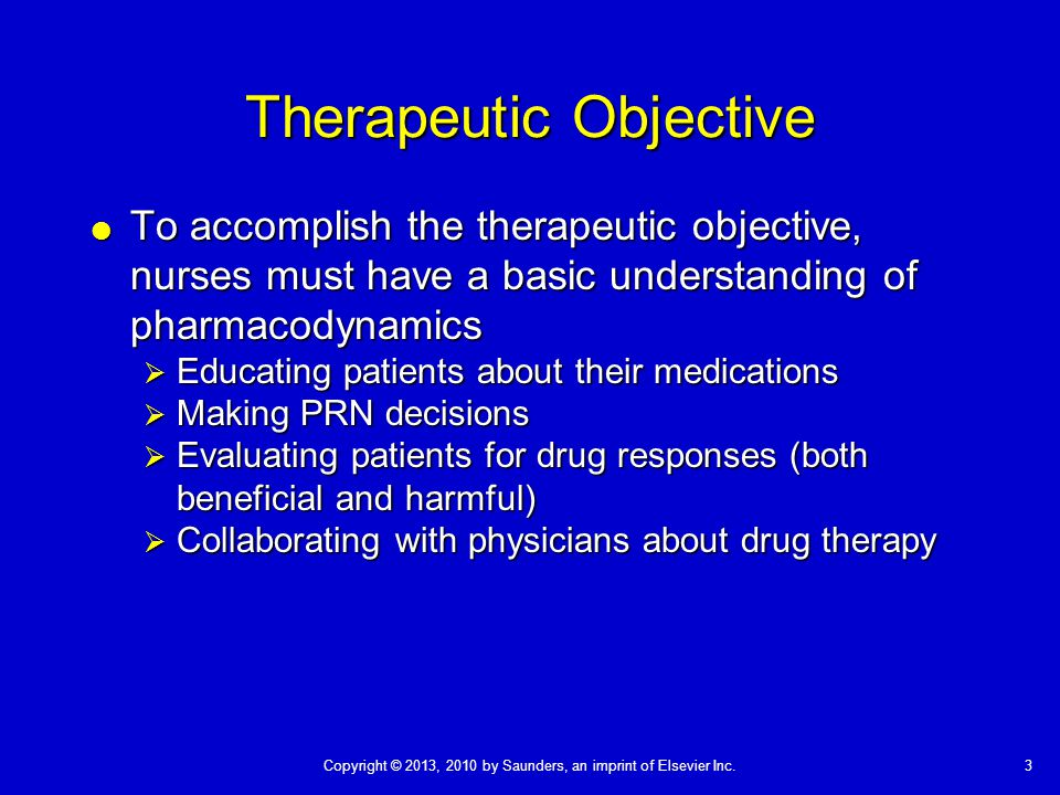 Therapeutic Objective