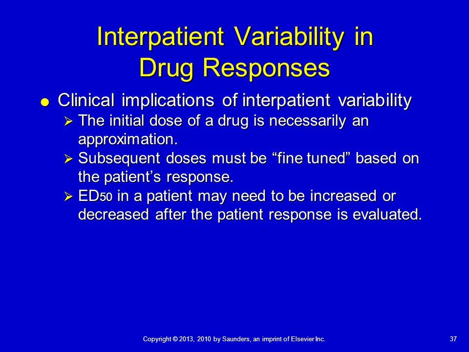 Interpatient Variability in Drug Responses