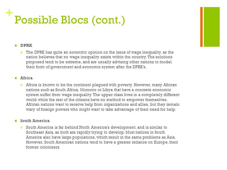 Possible Blocs (cont.) DPRK